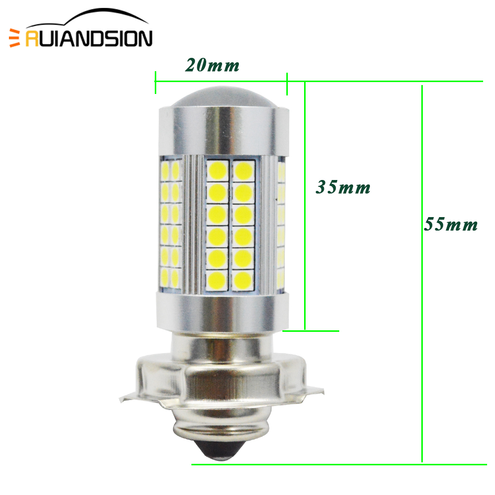 1PC Motorcycles Headlight White Super Bright 66SMD 3030 Turn signal P26S LED 6V 12V Light Motorbike Fog Lamp 1200LM LED Scooters image