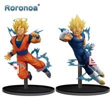 RORONOA Original Banpresto Dragon Ball Super Burst Battle Goku Majin Vegeta SSJ2 PVC Action Figure Collectible Model Doll Toys