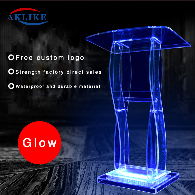AdirOffice Stand Up Sleek Perspex  Acrylic Pulpit AKLIKE Lectern Table Office Table School Table  Podium Lectern Modern Lecterns