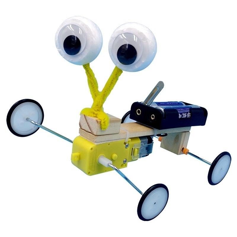Kids Science Experiment Toys Alien Robot Model Construction Kit Technology STEM Educational Toys For Children School Brinquedos