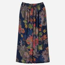 Летние широкие брюки женские повседневные до щиколотки с цветочным