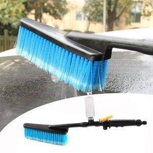 Image 5 - فرشاة تنظيف السيارات ، بخاخ المياه لمحور إطارات السيارات ، بشعر ناعم ومقبض طويل ، ملحقات العناية بغسيل السيارات