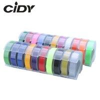 CIDY 2 stücke 9MM 6MM 12MM Dymo 3D Kunststoff Präge Band für Präge Label Maker PVC LABEL DYMO M1011 1610 1595 1540 Motex E101 Drucker-Bänder    -