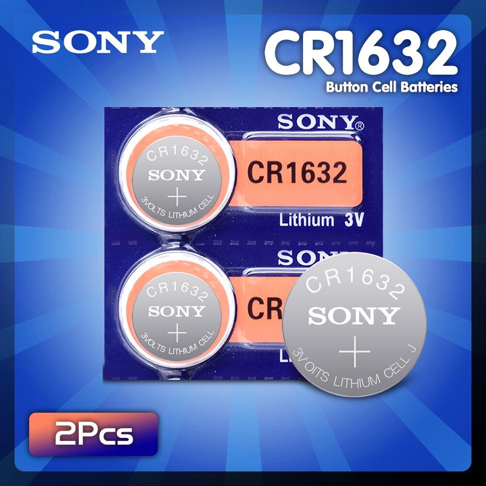 Оригинальный новый Аккумулятор Sony cr1632 3 в, кнопочные элементы, монетные батареи для часов, компьютеров, ECR1632 cr 1632, литиевые батареи, 2 шт.