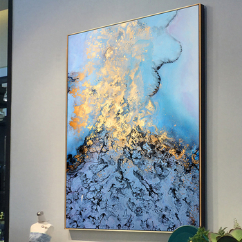 100% Hand Painted Abstract Scenery Oil Painting On Canvas Wall Art Frameless Picture Decoration For Live Room Home Decor Gift