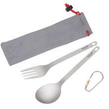 Tiartisan Kitchen Accessories Titanium Spoon Fork Camping Outdoor Picnic Cutlery Ultralight Flateware Set