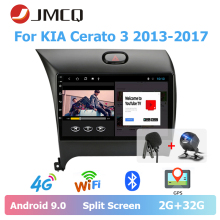 JMCQ 9 Car Radio Android 9.0 For KIA Cerato 3 2013-2017 player Bluetooth Multimedia Video Player Stereo Wifi 2din android radio