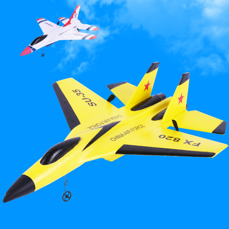 Remote Control Aircraft Small Jet F16 Remote Control Fighter Plane SU35 Remote Control Glider 14-Year-Old Or Above Wing Video Ga