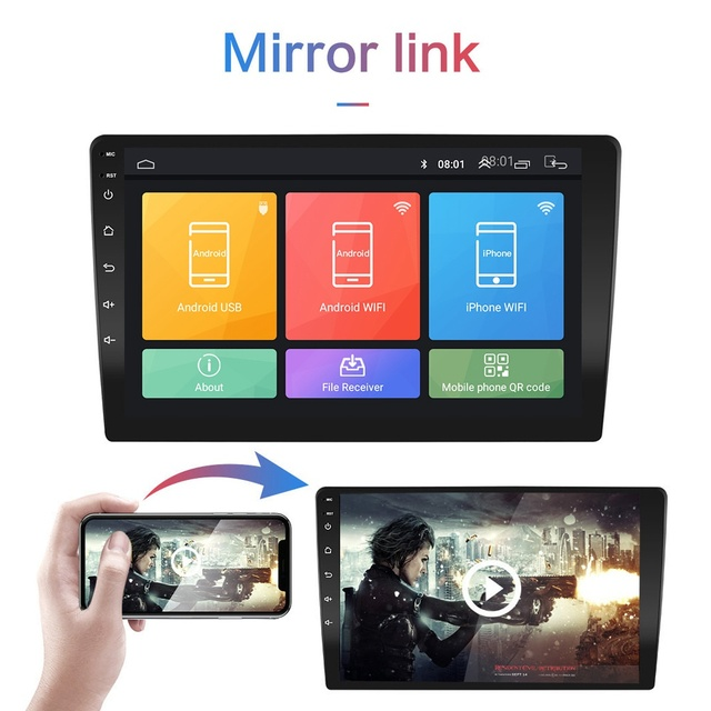 Reproductor de vídeo multimedia 2G RAM 2din Android para coche 9 pulgadas, radio universal para coche, navegación GPS, reproductor WIFI, cámara de soporte, TPMS, OBD