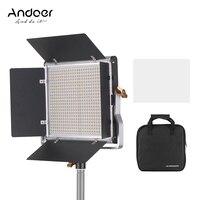 Andoer LED Video Light Dimmable 660 LED Bi Color Light Panel 3200 5600K w/ U Bracket Barndoor Lighting for Studio Video Shooting