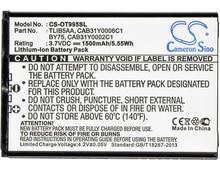 Cameron Sino 1500mAh Battery For Alcatel One Touch 993D,One Touch 995,OT-979,OT-993D,OT-995,OT-995 Ultra,BY75 CAB150000SC1 efiriym polychit novyu lineiky sverhmoshnyh asic mainerov ot linzhi