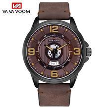 Men Watch Top Brand Luxury Chronograph Waterproof Military Male Clock New Sport Leather Wristwatch relogio masculino