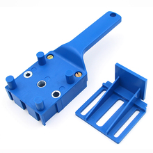 1pcs Pocket Hole Jig  Doweling Self-centering Dowel Joints Puncher Drill Guide For Carpentry Woodworking
