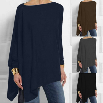 Casual Solid Colour Long Sleeve Blouse 15