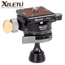 "XILETU XBC 20 Tripod Head Ball Head Rotating Panoramic BallHead with 1pcs 1/4"" to 1/4"" Srew Adapters for Monopod DSLR Camera"