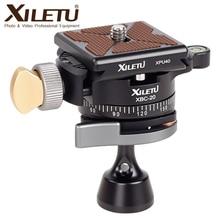"""XILETU XBC 20 testa a treppiede testa a sfera rotante panoramica BallHead con 1 pz 1/4 """"a 1/4"""" adattatori a vite per fotocamera monopiede DSLR"""
