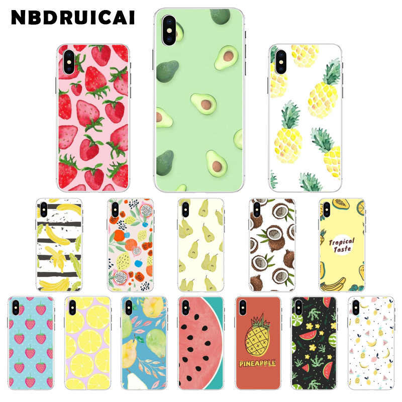 Nbdruicai Leuke Cartoon Fruit Tpu Soft Phone Case Voor Iphone 11 Pro Xs Max 8 7 6 6S Plus X 5 5S Se Xr Cover