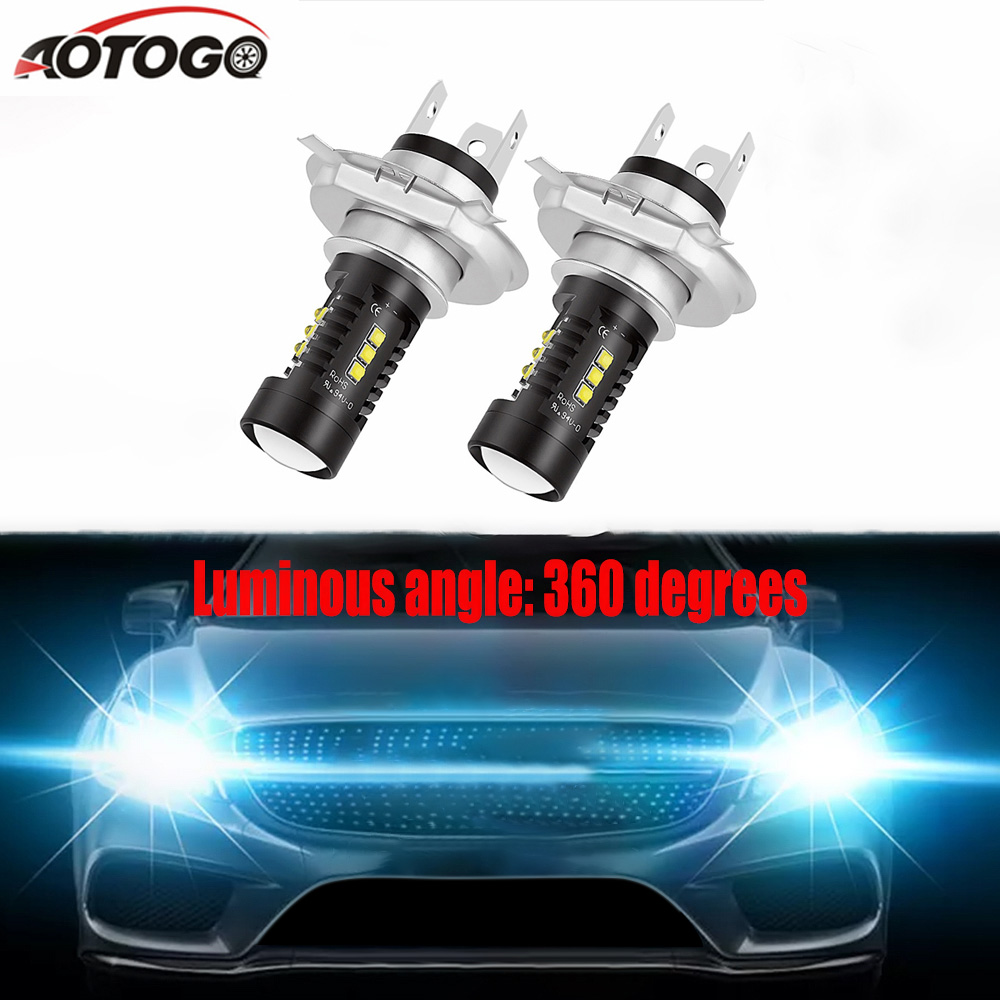 2 Pcs H7 Led H4 Led Car Headlights Led Lights Bulbs For Auto Headlight Bulbs Fog Light Driving Light 12v 6000k Super Bright Car