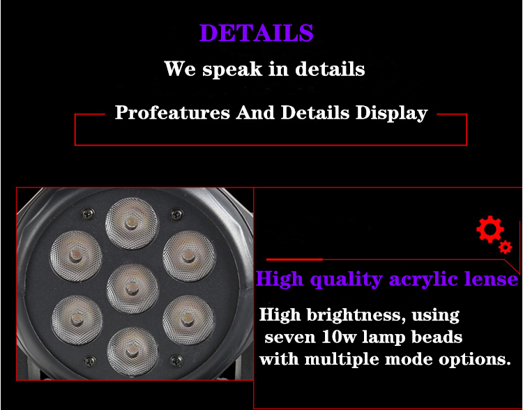 H34f0a03ff30144bdac41f2fe03fb6ad2U - LED 7X18W Wash Light RGBWA+UV 6in1 Moving Head Stage Light DMX Stage Light DJ Nightclub Party Concert Stage Professional