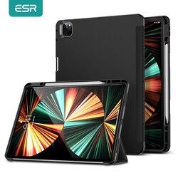 ESR для iPad Pro 12,9 2021 чехол с держателем для карандаша умный чехол для iPad Pro 11 2021 гибкая задняя крышка для iPad Pro