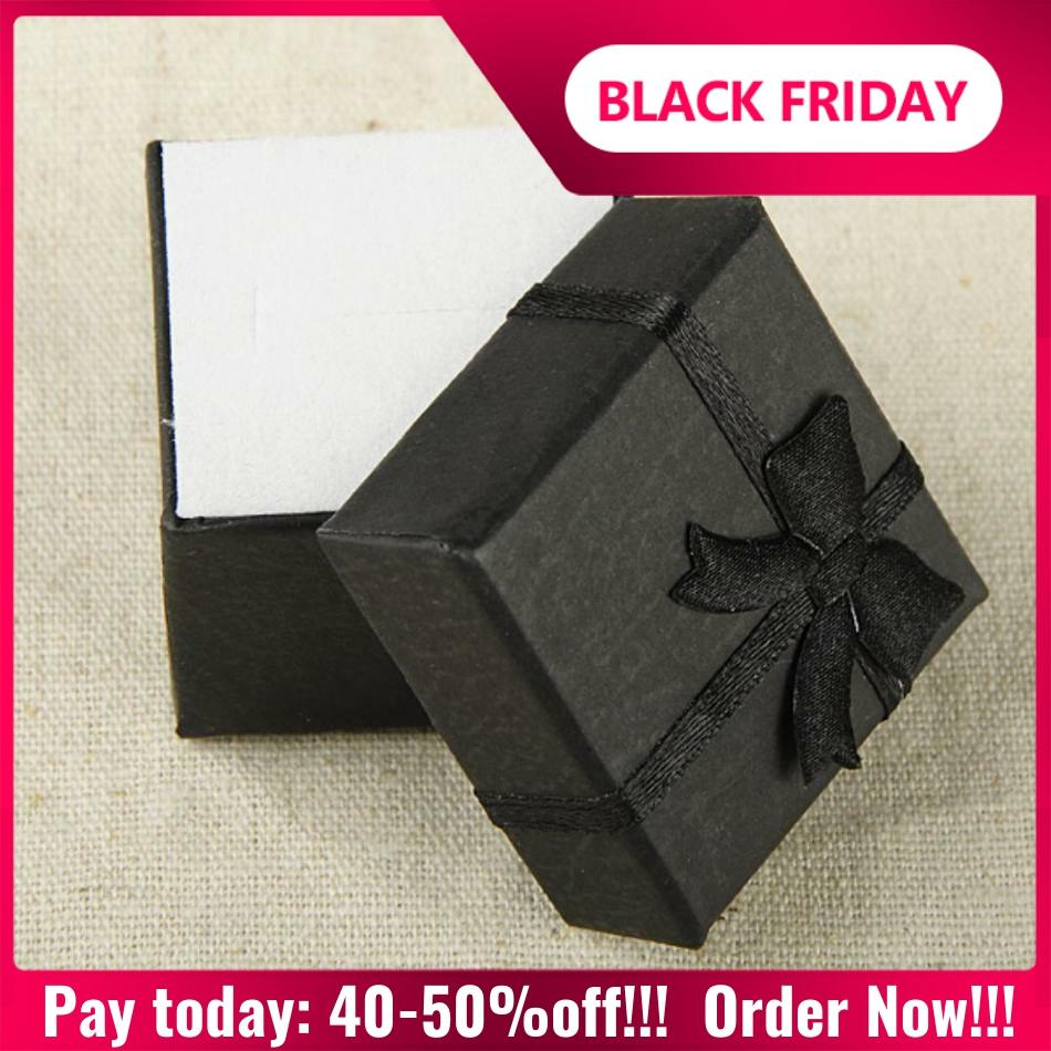 Cheap Sale Cheap+ Muti-colore Gift Box For Jewelry 4*4 *3cm Display Paper Gift Ring Box Square Package Bowknot Case