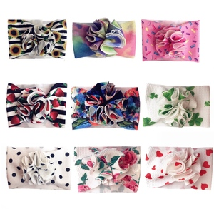 Image 5 - Baby Girl Headbands Baby Headwrap Bloom Wrap Headbands Baby Headwraps Puff Bloom Turbans Handmade Outfit Hairband