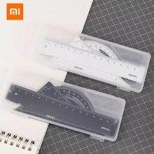 Nieuwe Xiaomi Deli Metalen Liniaal Metalen Materiaal Vier Stuk Pak Comfortabel Gevoel Duidelijke Schaal Voor Studenten En Kantoor