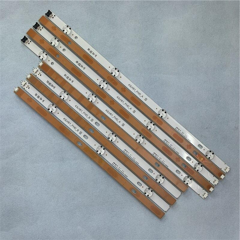 Origina 4 Pcs LED Backlight Strip 7 Lamp For LG 43 Inch TV 43LX300C-CA LF51-FHD-A HC430DUE COB 43LH51_FHD A SSC_43inch_FHD