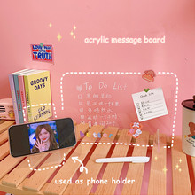 Erasable Message-Board Acrylic Transparent MINKYS Office Multifunctional 2-In-1 Stationery