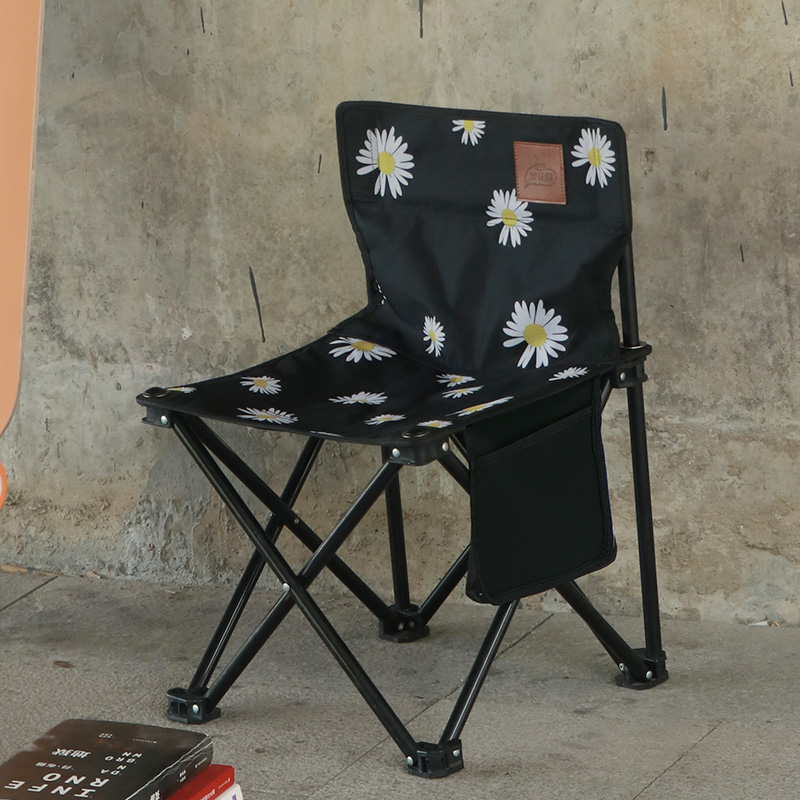 Radient Outdoor Camping Chair Portable Folding Stool Fishing Chair Leisure Barbecue Courtyard Four Seasons Available Folding Chair Modern And Elegant In Fashion