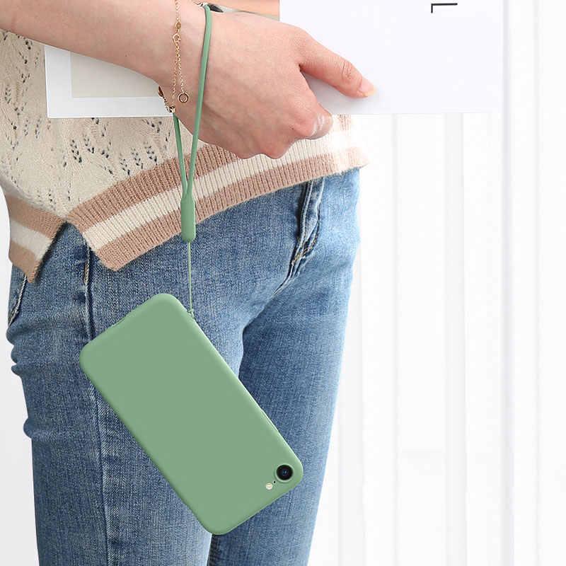 液状シリコーン手首ストラップハンドストラップ電話 Iphone 11 三星カメラ移動プロ USB フラッシュドライブキー ID カード keycord キーホルダー