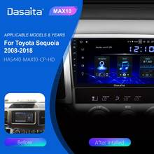 "Dasaita 10.2 ""HD ekran Android 10.0 araba radyo Toyota Sequoia 2008-2018 için GPS Tundra 2007-2013 araba multimedya oynatıcı TDA7850"