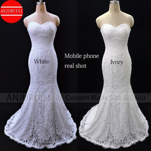 Lace Wedding Dress Mermaid Vestido De Noiva 2020 Gown Robe Mariage Vestito Da Festa Di Nozze Suknia Slubna Trouwjurk Simple Boda 4