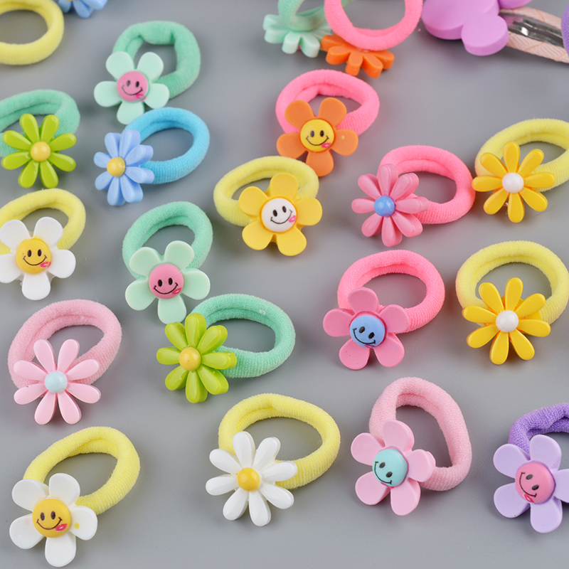 10 PCS Lovely Flower Princess Headwear Headdress Children Hair Ropes Girls Hair Accessories Kids Elastic Hair Bands