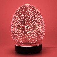 100ml vidro aromaterapia umidificador aroma difusor de óleo essencial umidificador ultra-sônico com 7 cores led luz para escritório em casa
