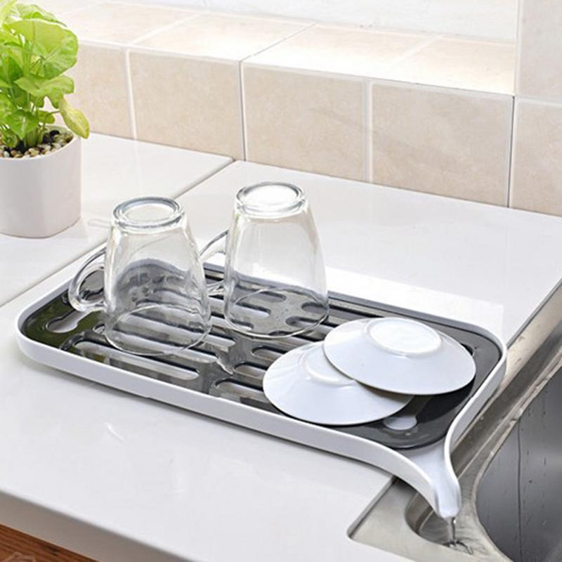 Plastic Drain Dish Rack Kitchen Multi-Function Double-Layer Drain Tray Fruit Storage Rack Drain Water Rack