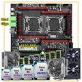 HUANANZHI dual X99 motherboard combos DIY dual CPU E5 2678 V3 2676 V3 RAM 128G(8*16G) 1866 RECC 512G SSD video card RX580 8G