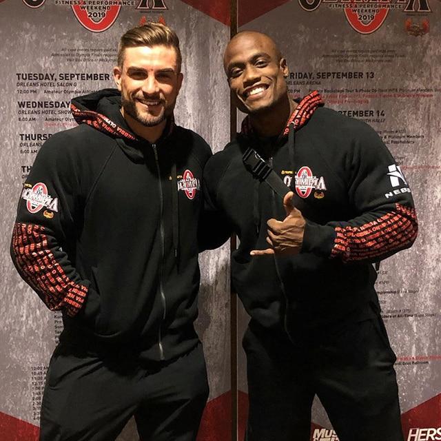 2020 neue OLYMPIA Männer Turnhallen Hoodies Turnhallen Fitness Bodybuilding Sweatshirt Pullover Sportswear Männlichen Workout Mit Kapuze Jacke Kleidung