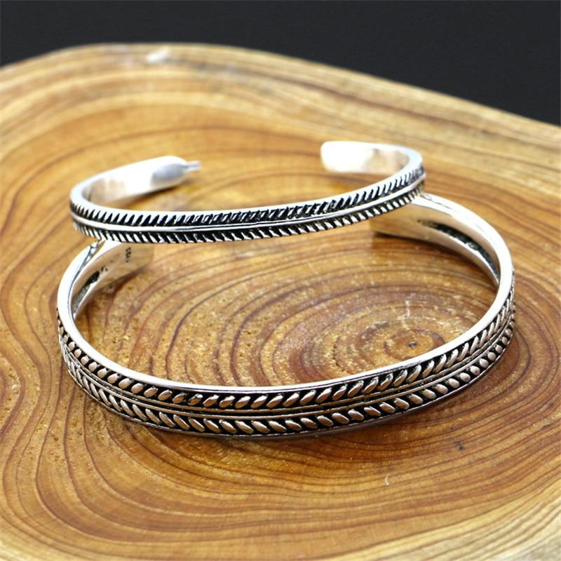 Bracelet argent Vintage épi 4