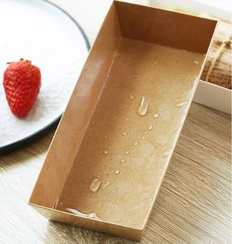 50set Kraft Paper with PVC Cover food Boxes Sandwich hamburger Macaron Cookies Candy Box Easter Baby Shower Party Free Shipping