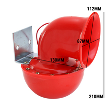 Unique Air Horn Red Electric Bull Horn Raging Sound For Car Motorcycle Truck Boat Loud