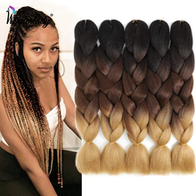 WonderLady 100G 120 Colors Synthetic Braiding Hair Extensions Ombre Jumbo Braid Pre Stretched Wholesale 24 Inch Box Twist Braids cheap High Temperature Fiber CN(Origin) Jumbo Braids 1strands pack 100g-107g 24 Inch True to Length Soft and Full Hair Weight 100g Piece