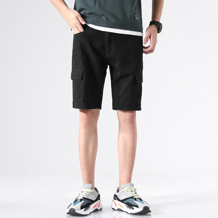 Summer Thin Section 2019 New Style Popular Brand Short Shorts Men Solid Color Japanese-style Loose-Fit Workwear Straight-Cut Tre