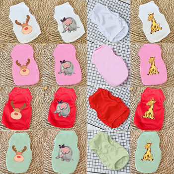 Dog Clothes for Small Dogs Cute Printed summer Pets tshirt Puppy Dog Clothes Pet Cat Vest Cotton T Shirt Pug Apparel Costumes