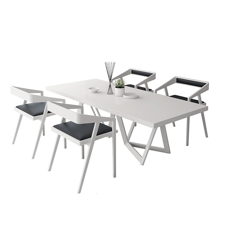 Nordic Marble Desk And Chair Combination Staff Training Table Simple Long Strip Negotiating Table Computer Table