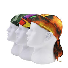 Rodismtor Print Design Quick Dry Cycling Head Cap Men Head Scarf Hat Running Pirate Bandana Headscarf Ciclismo Headband(China)