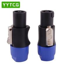 Yytcg Gratis Verzending 20 Stks/partij 4Pin Speakon Kabel Connectors 4 Polige Stekker Male Audio Luidspreker Connector
