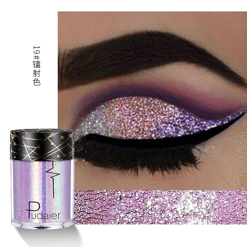 New Glitter Eye Shadow Professional Makeup Monochrome Shining Eyeshadow Universal Party Cosmetic Palete Paleta De Sombra TSLM2