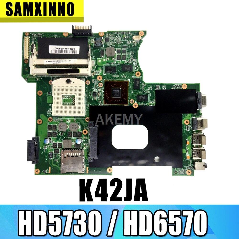K42JA REV: 2,0 для For Asus K42J K42JA A40J X42J A42JLaptop Материнская плата хорошо протестирована HD5730 / HD6570