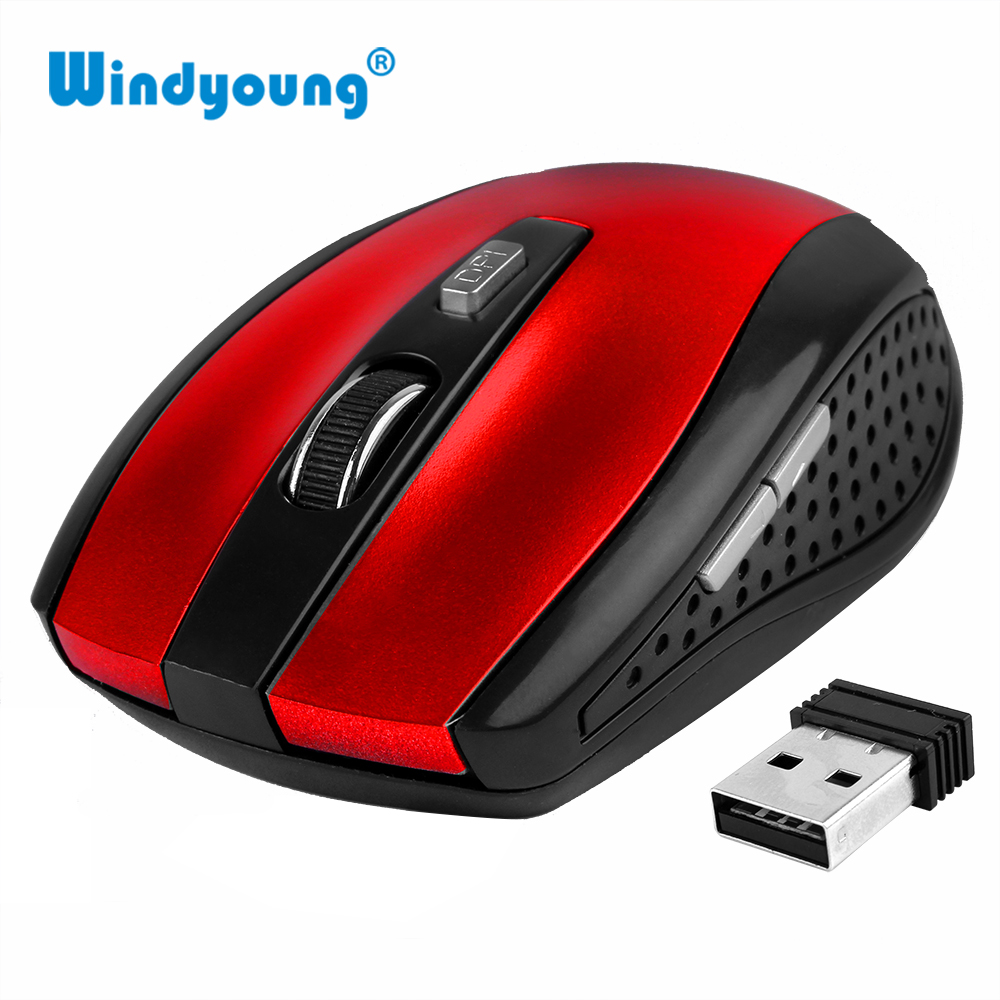 6 Keys Gaming Mouse 2.4GHz Wireless Mouse With USB Nano Dongle Mice Optical USB Receiver For PC Laptop Desktop Wireless Mouse